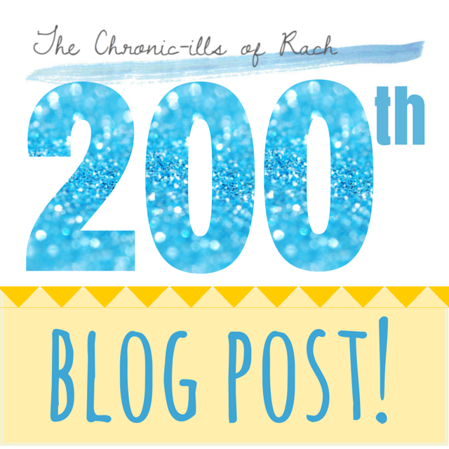 glitter numbers proclaiming The Chronic-ills of Rach's 200th Blog Post