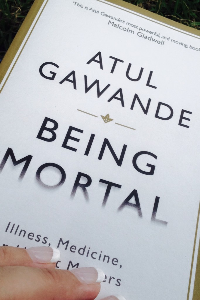 picture of the cover of Atul Gawande's book 'Being Mortal'